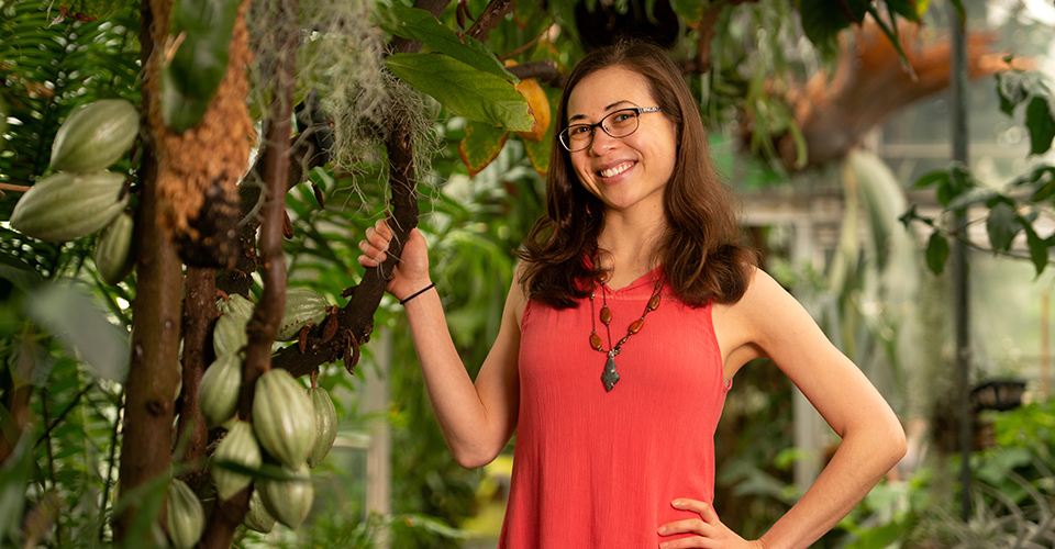 Madeline Weeks, a Geography graduate student, has been doing her research on cacao and the impact of the cocoa and chocolate made from it in Guatemala.