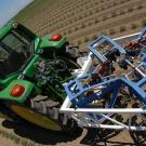 Tractor-drawn phenotyping machine