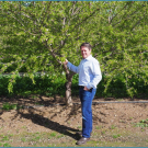 Patrick H. Brown in almond orchard